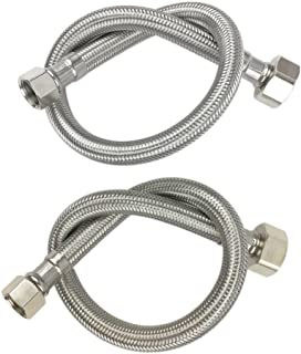 Water Supply Line Braided Faucet Connector 3//8 Female Compression Thread x 1//2 I.P 1 Pair 16 Inch//41CM Female Straight Thread,2 Pcs