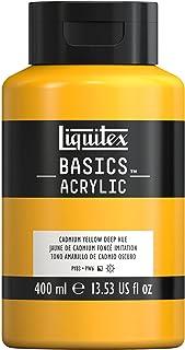 Liquitex 220706 Basics Acrylic Paint, 13.5-oz Bottle, Cadmium Yellow Deep Hue, 13 Fl