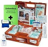 Erste-Hilfe-Koffer M1 mit'Notfallbeatmungshilfe' für Betriebe DIN/EN 13157 inkl. Verbandbuch & Hände-Antisept-Spray