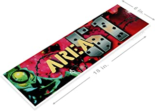 PosterGlobe Poster A220 Area 51 Arcade Shop Game Room Sign Marquee Retro Console 6 x 18