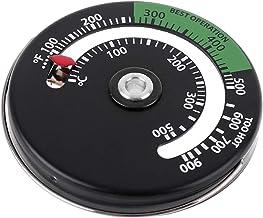 MagiDeal Termómetro magnético Quemador de Madera medidor de Temperatura Estufa Tubo de combustión termómetro Accesorios de Chimenea Herramientas
