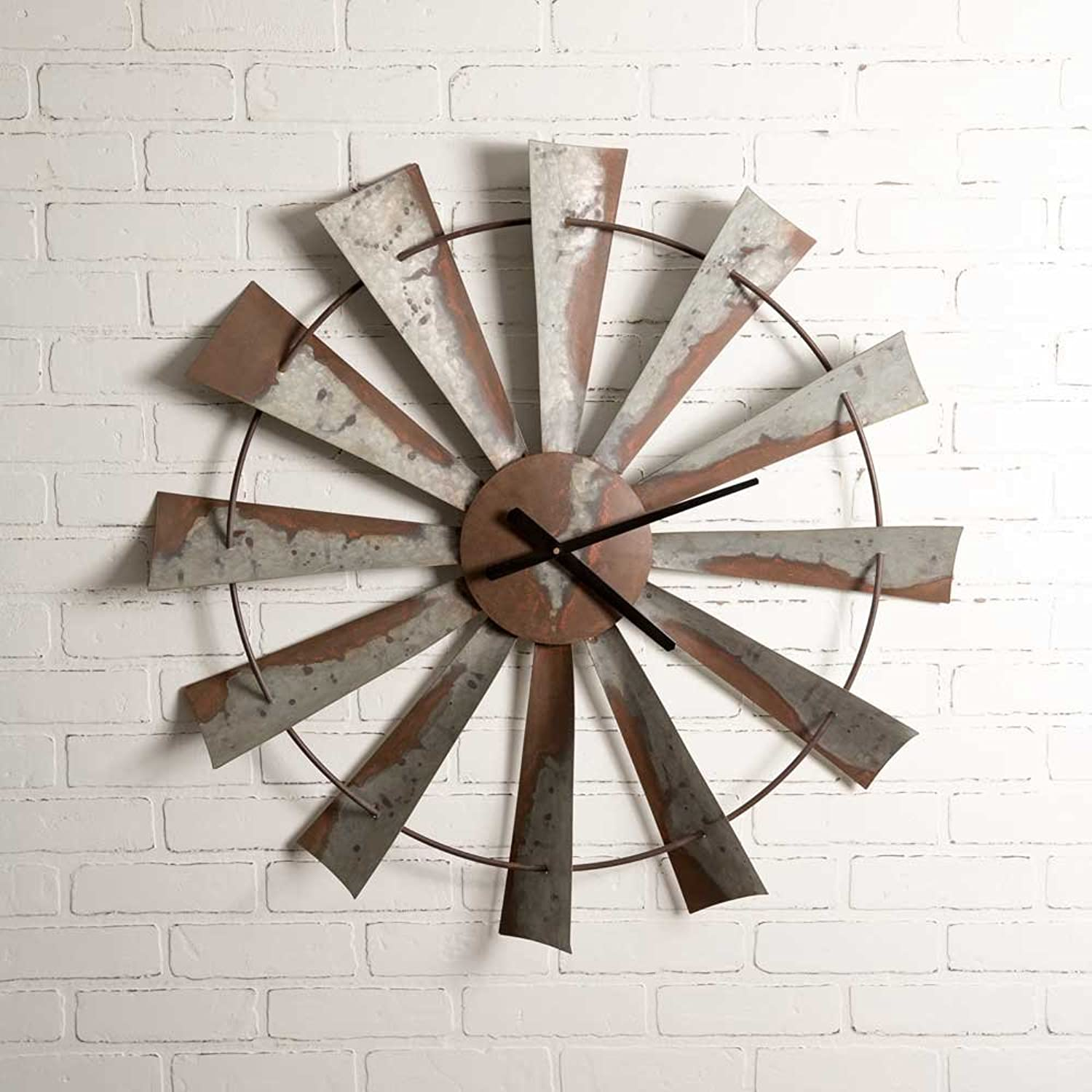 Windmill Wall Clock by Colonial TinWorks