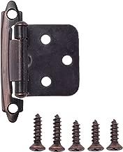 AmazonBasics AB-4010 Hinges, 1/2 inch overlay, Oil Rubbed Bronze