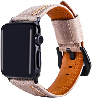 HUIMEIS AE The new grade suitable apple watch leather band iwatch three lines leather strap