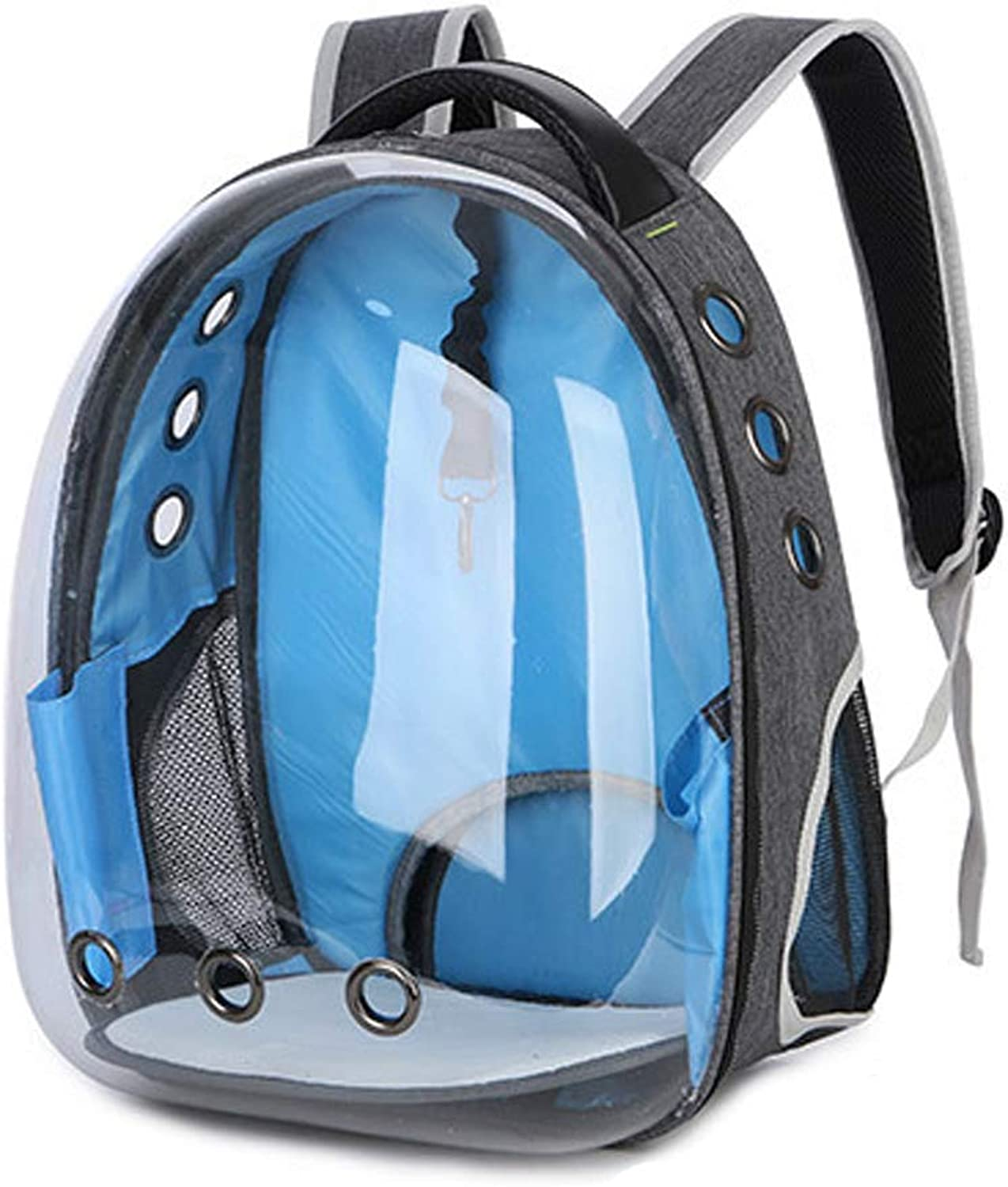 Pet Carrier Dog Backpack bluee Space Bag Transparent and Breathable