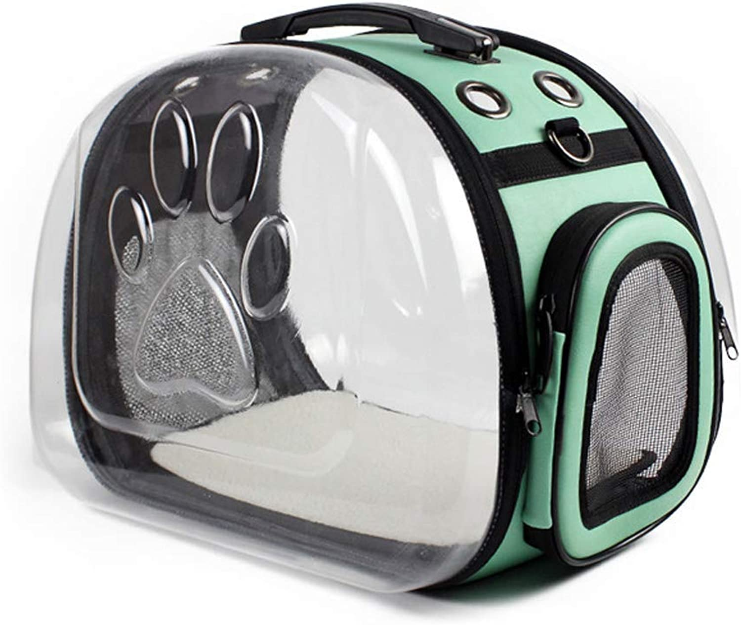 Pet Carrier Seat Foldable Pet Carrier Siling Animal Transparent Bag for Small Dogs, Cats, Puppies, Kittens Pet Carrier Crate