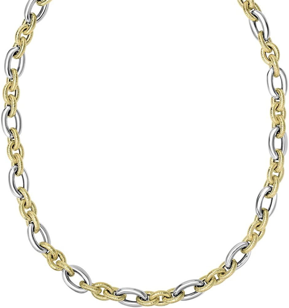 14k Cash special price Yellow Wht Gold 11mm Alternate Textured Large special price !! Lrg White 1 3