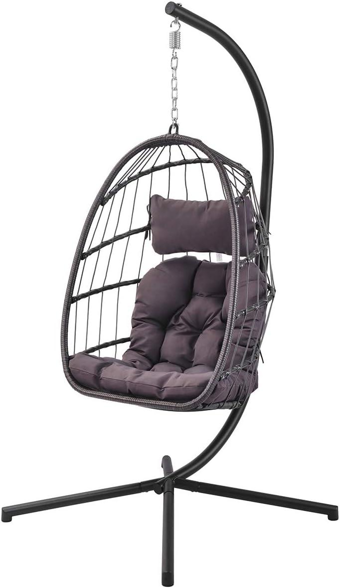 Max 66% OFF Cmbsya Omaha Mall Patio Hanging Swing Chair Egg Duty Heavy Cha Construction