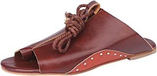 6457435360 Amazon.it: sandali cuoio donna bassi - Marrone / Sandali / Scarpe da ...