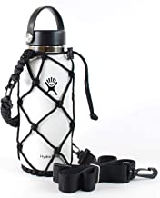 Gearproz HydroNet Carrier - Fits Wide Mouth Hydro Flask 32, 40, 64 oz Growler - from America's No. 1 in Paracord Handles a...