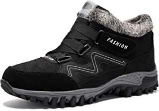 BaiMoJia Bottes de Randonnée Neige Femme Homme Hiver Chaud Fourrure Antidérapantes Trekking Chaussures de Marche