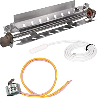 WR51X10055 Refrigerator Defrost Heater, WR55X10025 Temperature Sensor and WR50X10068 Defrost Thermostat Kit Replacement Part for General Electric, Kenmore, Hotpoint Refrigerators Replaces WR51X10030