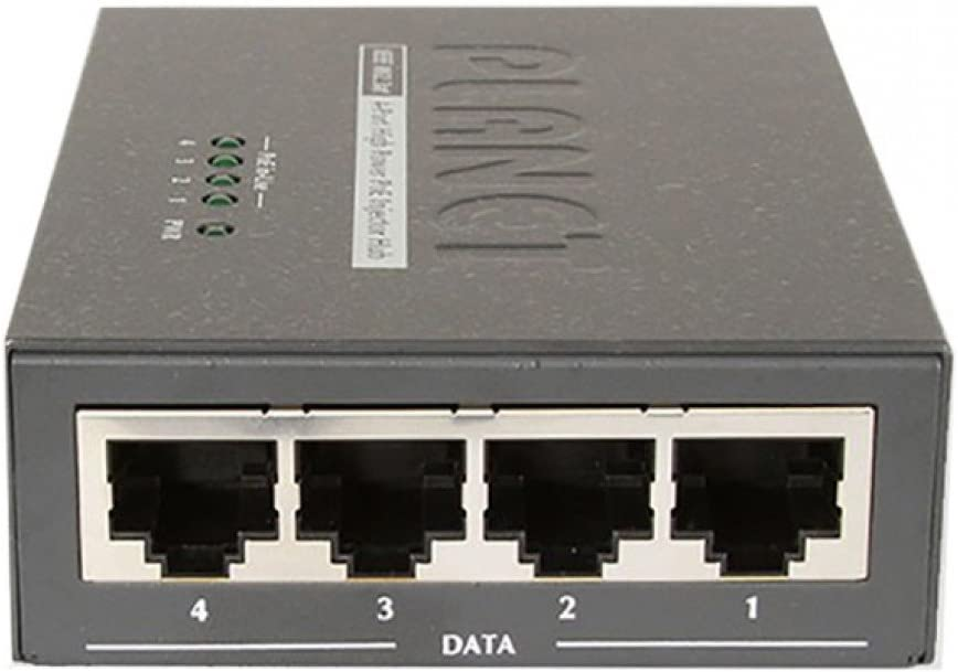 Planet HPOE-460 4-Port 802.3at 30W High Power over Ethernet Injector Hub