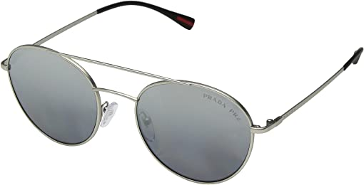 Matte Silver/Polarized Grey Mirror Silver