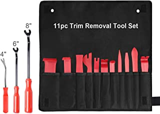 XOOL Trim Removal Tools, Auto Door Panel Remover Pry Tools Set Nylon Panel Removal Tool Fastener Remover Set for Car Interior Removal Dash Panel Radio Trim Panel, 14 PCS Red