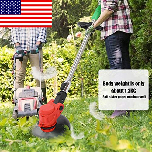 Cordless Electric Trimmer Grass Trimmer,String Trimmer,Lawn Mower,Cordless String Grass Trimmer Weed Eater with 24V Lithium-ion Batteries [USA in Stock]