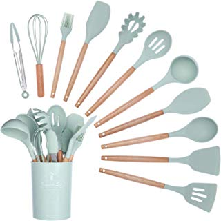 Silicone cooker set of 11 pieces (PP storage bucket)