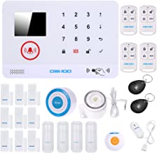 433MHz Wireless Auto-dial 3G SMS Alarm Security System Water Door Sensor LCD Display Wired & Wireless Siren Kit Phone App ...