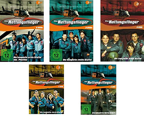 Die Rettungsflieger - Starter Set - Staffel 1-5 incl. Pilotfilm - Deutsche Originalware [10 DVDs]