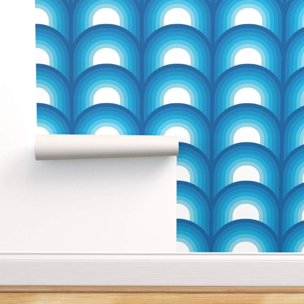 3D Blue Circular Drawing CA04 Ceiling Wallpaper Removable Self Adhesive Wallpaper Large Peel /& Stick Wallpaper Wallpaper Mural AJ WALLPAPERS