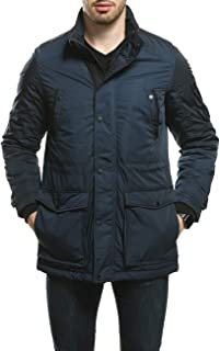 Men's Parka Water and Wind Proof Coat Zippered and...
