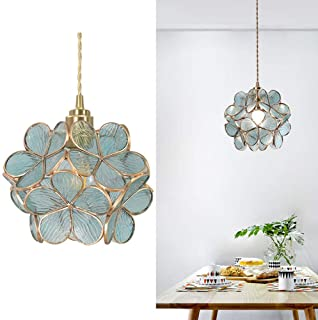 WEM Lustre , Luminaire suspendu moderne, lustre de chambre d'enfants au fini laiton, suspension à une lumière en verre, pl...