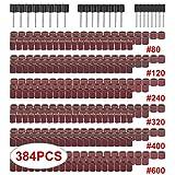サンディングバンド 384点セットサンドペーパー サンドドラム ミニルーター 研磨ホイール ロータリーツール 回転工具 用 研磨ツール サンディング バンドキット