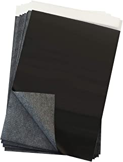 GraceMake Carbon Paper Black Carbon Transfer (7.87 x 11.18 inch) Tracing Paper Paper, Canvas and Other Art Surfaces (Blac...