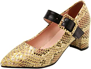 Melady Women Fashion Pumps Block Heels Mary Janes