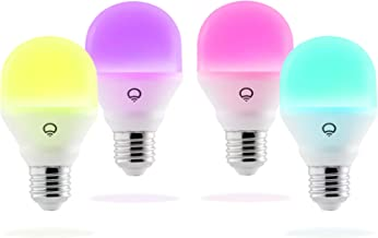 LIFX Mini Colour A19 LED Smart Light Living Pack - Edison Screw E27 (4 Pack)