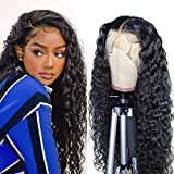 IWISH Water Wave Lace Front Wigs Human Hair Pre Plucked Deep Part Curly Lace Front Human Hair Wig, Brazilian Remy Hair Short Bob Wigs for Black Women (12 Inch 130% Density)