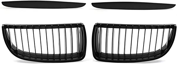 uxcell Car Matte Black Front Hood Kidney Grille Grill for BMW E90 325i 328i 328xi 335i 335xi 330i 330xi