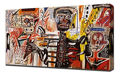 Philistines - Jean Michel Basquiat - Reproducción De Alta Calidad Lienzo - Arte Enmarcado Impresión De Lienzo
