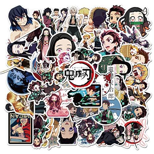 50 pegatinas de graffiti impermeables con diseño de anime japonés
