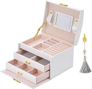 E-MANIS Boîte à bijoux Coffret pour bijoux à montre à maquillage,bijoux et cosmétique beauty Case,Doublure en velours,Affi...