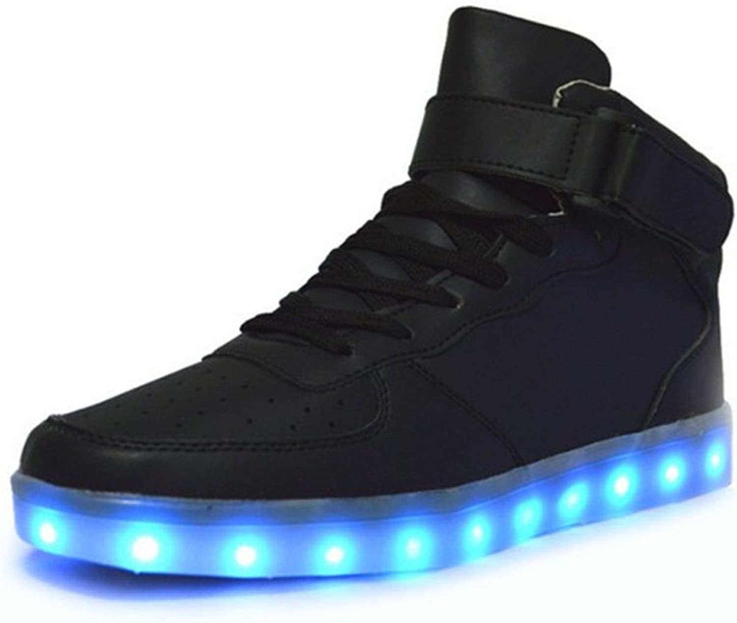 FLASHY'S Unisex LED shoes,USB Charging Flashing Snickers,Light up and Glow in The Dark