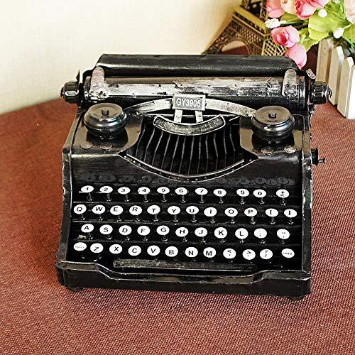 Máquina de Escribir Vintage, Retro, Artes del Hierro Decoración, Home Crafts Bar/Decoraciones Navideñas, 24x18x12cm, Negro