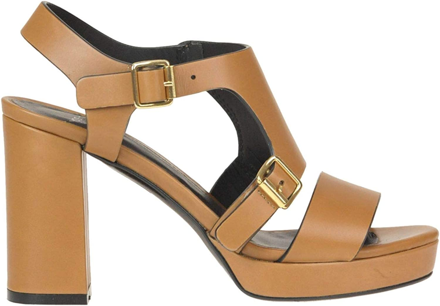 YOSH COLLECTION Women's MCGLCAT000005208E Brown Leather Sandals