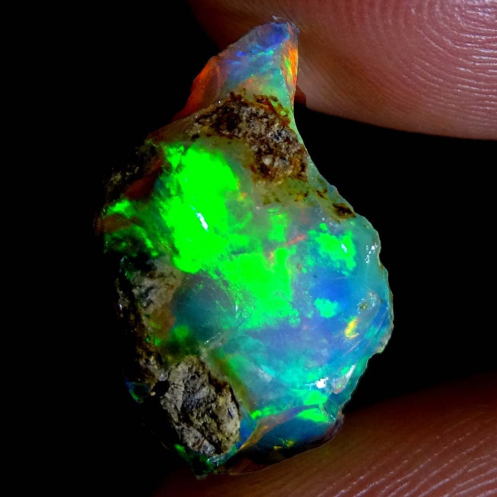 GEMSTONECABS 10.40Cts AAA 100% Natural Ethiopi Rainbow Fire 2021new shipping free shipping Max 63% OFF Welo