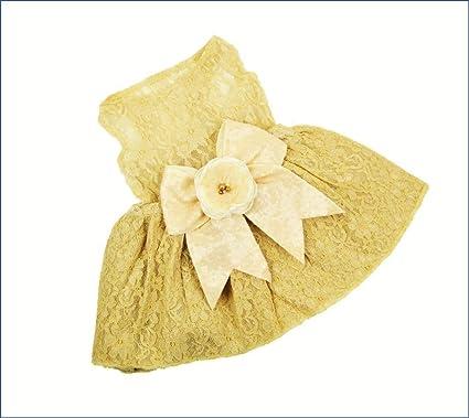 Dog Wedding Dress House of FurBaby Wedding Flower Dog Dress The Rustica Lace Ivory Dog Dress