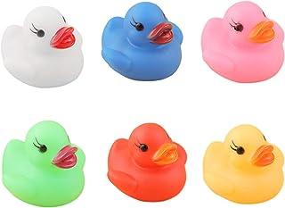 ZSGG Juguete de baño de pato de goma clásico, sensor de agua LED, pato luminoso flotando en el agua intermitente pequeño p...