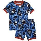 Petit Lem Big Boys' Shark Attack Jaws Pajama, Blue, 4