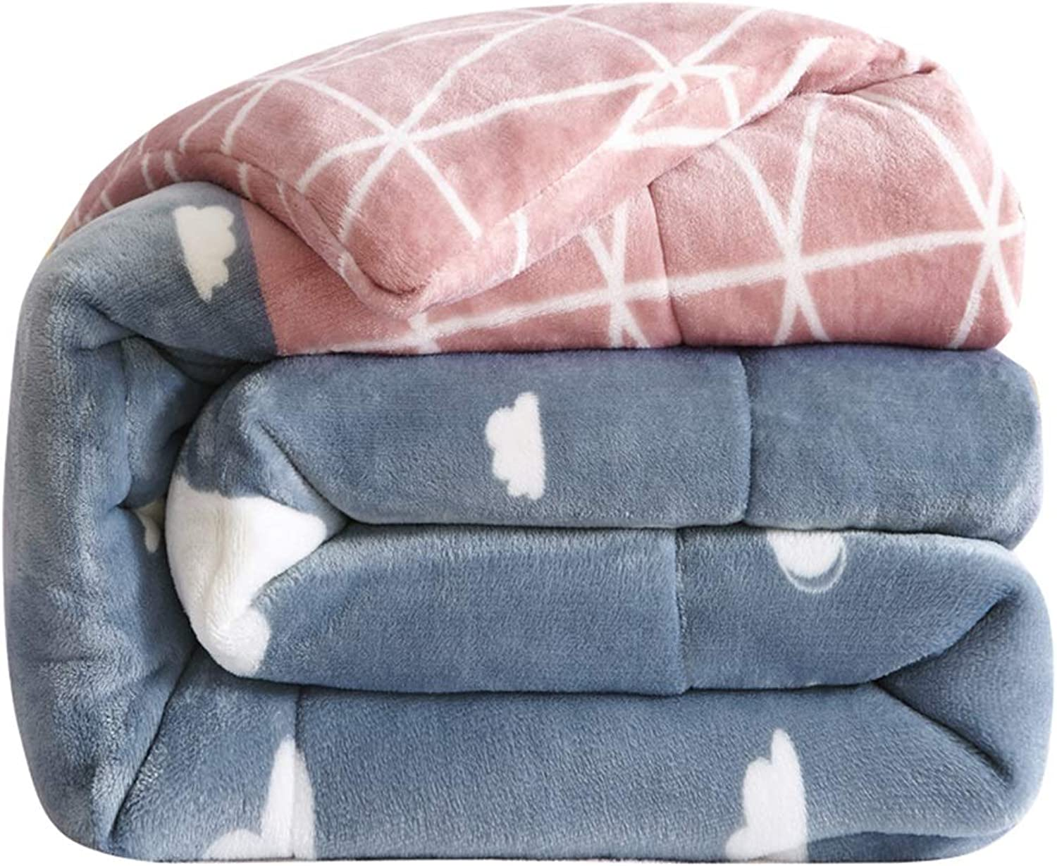Stitched Down Alternative Comforter Quilt Single Double Quilt Thicken Warm and Soft Lightweight Comforter Double-Sided Flannel Winter Quilt (Size   150cmx200cm2.5kg)