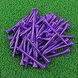 Crestgolf Golf Tee 2-3/4 inch Deluxe Tee Pack of 100 (Purple)