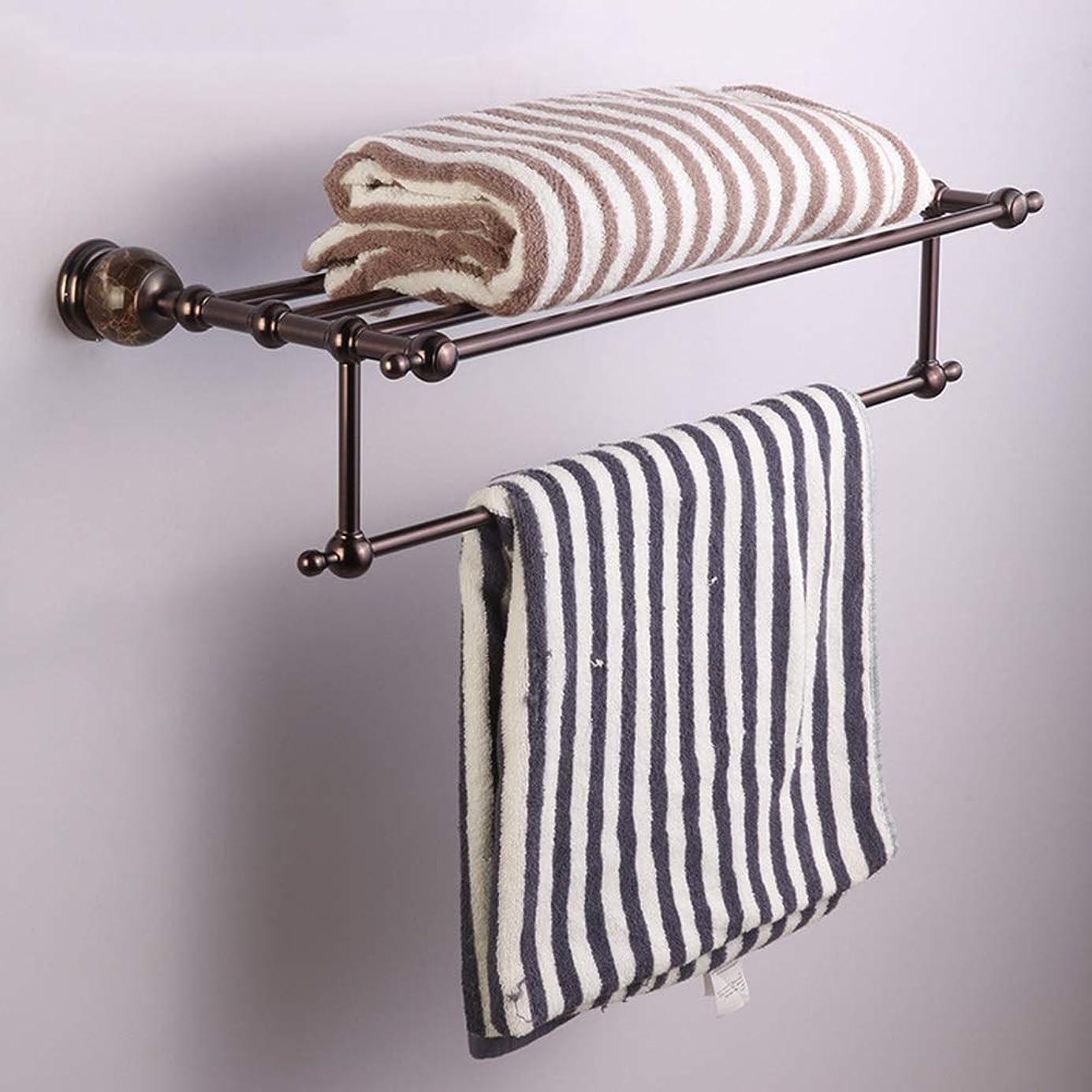 大惨事分注する怖がって死ぬHYH ヨーロッパのレトロ銅タオルラックホテル浴室浴室ダブルタオルバー浴室ペンダントラック 美しい人生