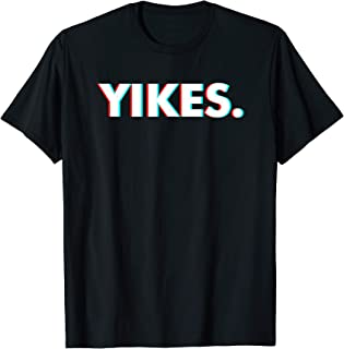Yikes Text FunnyMemerぎこちない瞬間にユーモラスな発言 Tシャツ