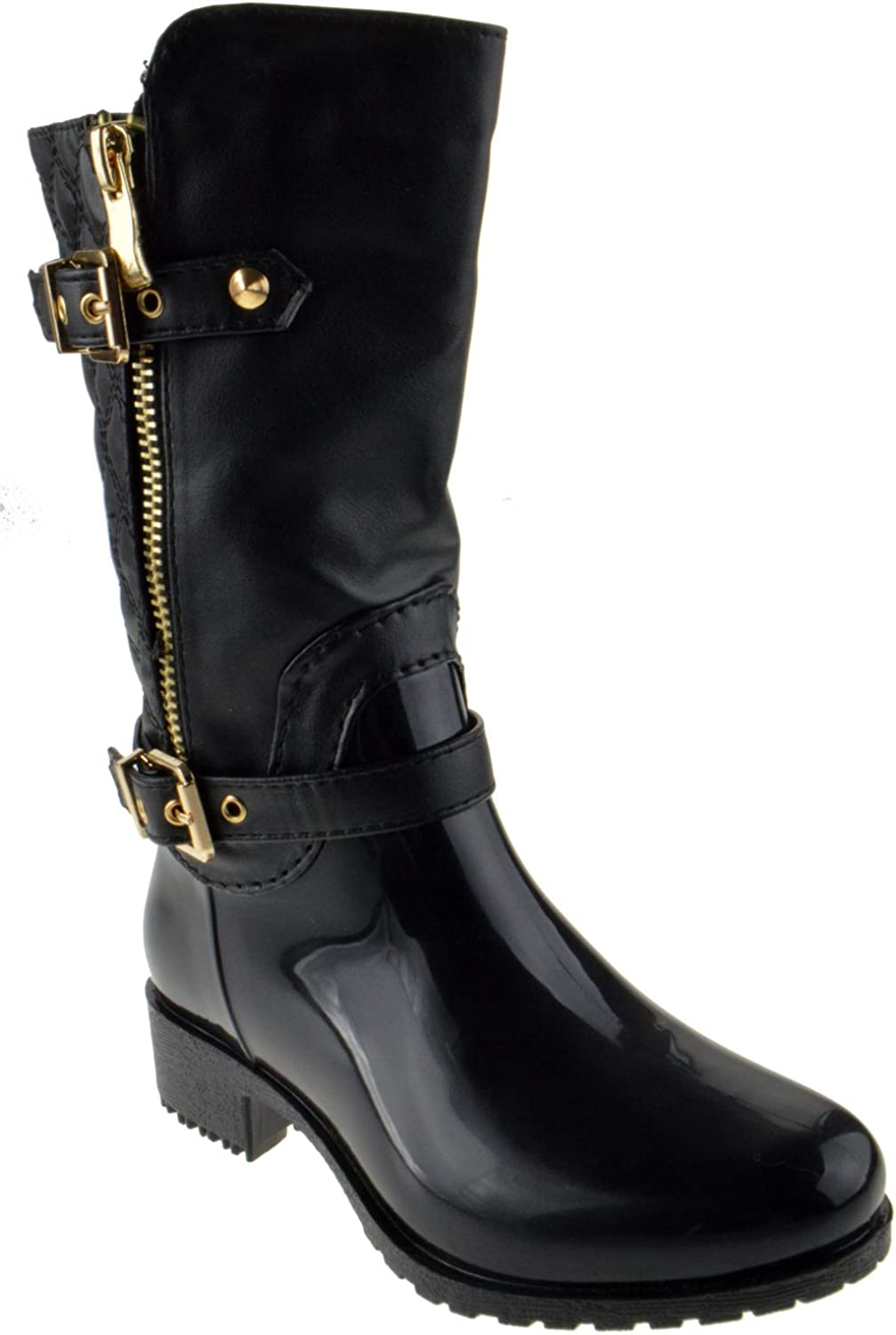 A surprise price is realized Lucky Top Oakland Mall Rainy Little Girls Riding Boots Zipper Waterproof PVC