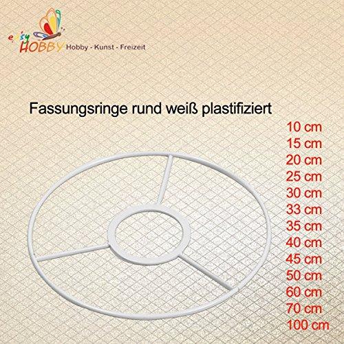 Fassungsringe rund weiß plastifiziert (20 cm)