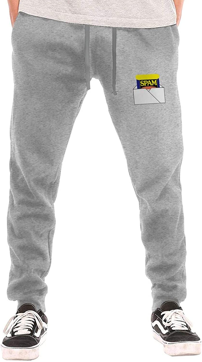 Spam Man Long Pants All Sports Outlet sale feature Max 52% OFF Cotton Waist Drawstring