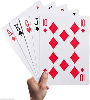 Neliblu Playing Cards Jumbo Deck of Cards 8.5
